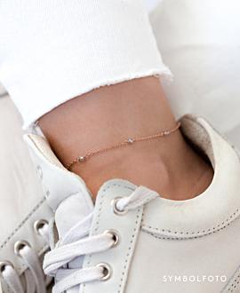 GRACIOUS  Fußkette Weiß