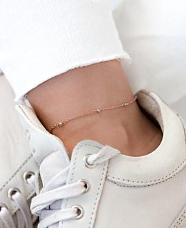 GRACIOUS  Fußkette Grau