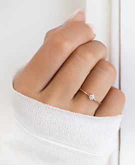 SOLITAIRE RING 14K ROSE GOLD