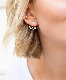 FLORAL Ear Jackets Rosé