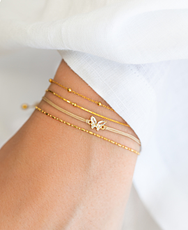 SNAKE CHAIN  Armband Gold