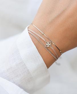 SNOW FLOWER  Armband Silber