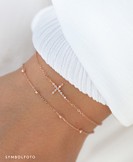 SPARKLING CROSS  Armband Silber