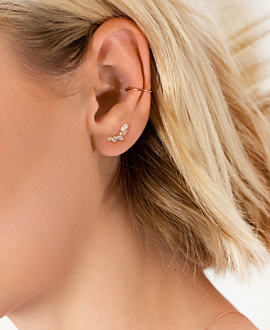 SPLENDOR  EAR STUDS ROSE