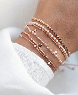 STAR CHARM  Armband Rosé