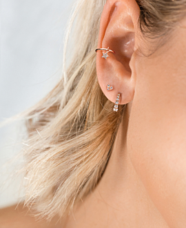 STAR EAR CUFF  SINGLE ROSE
