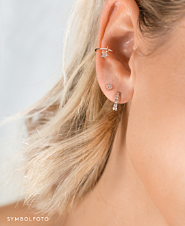 STAR Ear Cuff  Single Silber