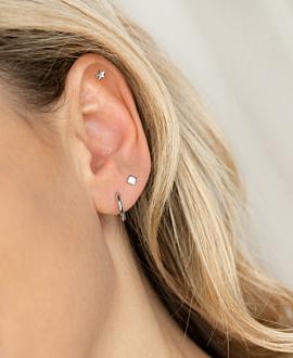 STAR  Piercing Silber