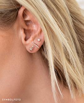 STARS  EAR STUDS GOLD