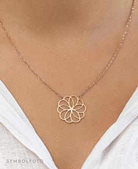 FLOURISH  Halskette Silber