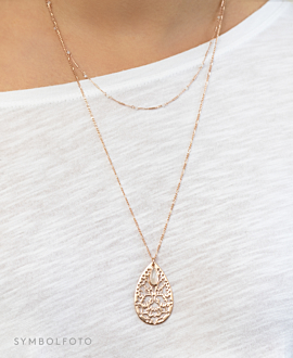 DROP ORNAMENT  Halskette Gold
