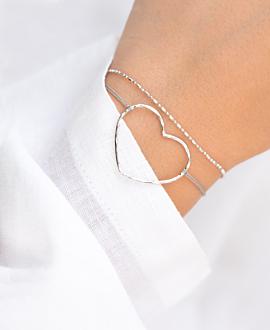 TI AMO  Armband Silber