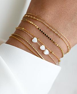 BEADS  Armband Gold