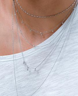 TOPAS  Halskette Silber