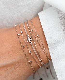 TOPAZ  Armband Grau