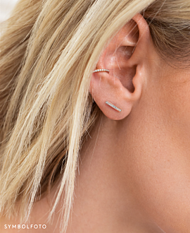 TOPAZ BAR  EAR STUDS SILVER