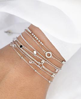 TOPAZ CIRCLE  Armband Silber