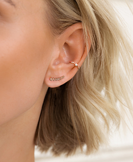 TOPAZ EAR CLIMBER  Single Rosé