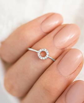 TOPAZ CIRCLE  Ring Silber