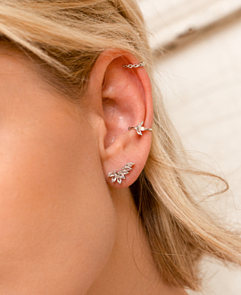 TOPAZ Ear Cuff Single Silber