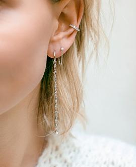 TOPAZ Ear Jackets Silber