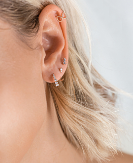 TOPAZ EAR STUDS ROSE