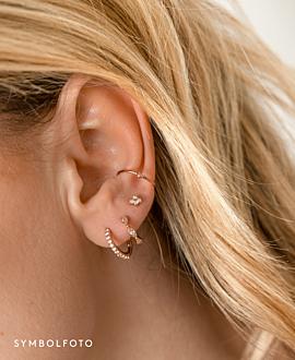 TOPAZ SPRING  EAR STUDS GOLD