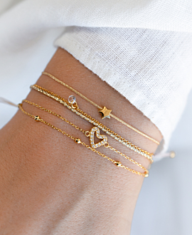 TRUE LOVE  Armband Gold