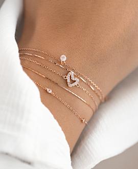 TRUE LOVE  Armband Rosé