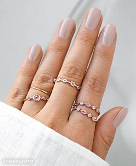 AURORA  Ring Silber
