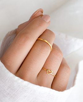 TRUE LOVE  Ring Gold