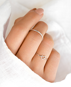 TRUE LOVE  Ring Silber