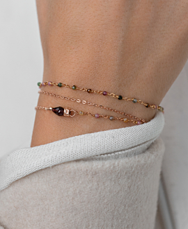 GEM LAYER  BRACELET COLORFUL