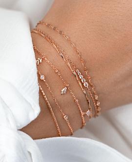 XMAS CHARMS  Armband Rosé