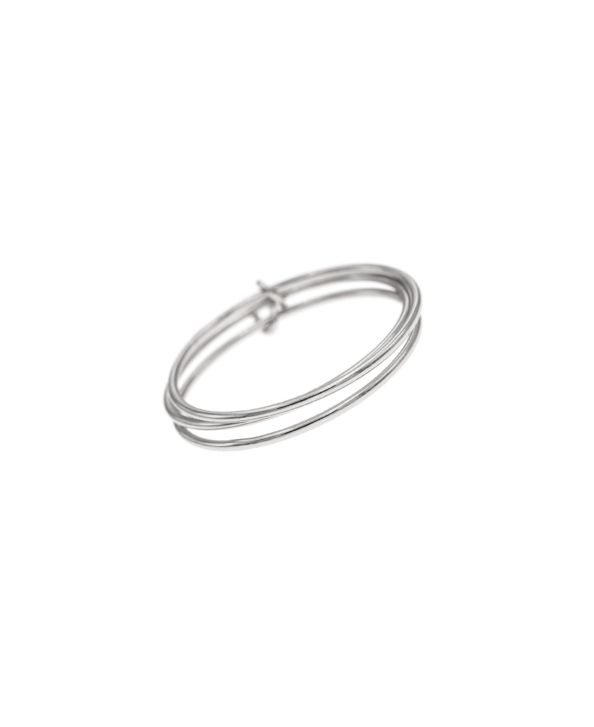 SMOOTH TRIPLET Ringset Silber